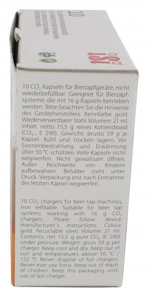Kohlensäurekapseln für Bierzapfgeräte
