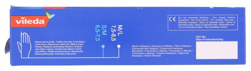 Vileda Multi Latex Einmalhandschuh Gr. 7,5-8,5 M/L