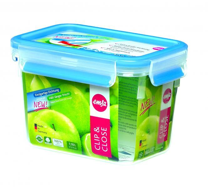 Emsa Clip & Close Frischhaltedose 1,1 Liter
