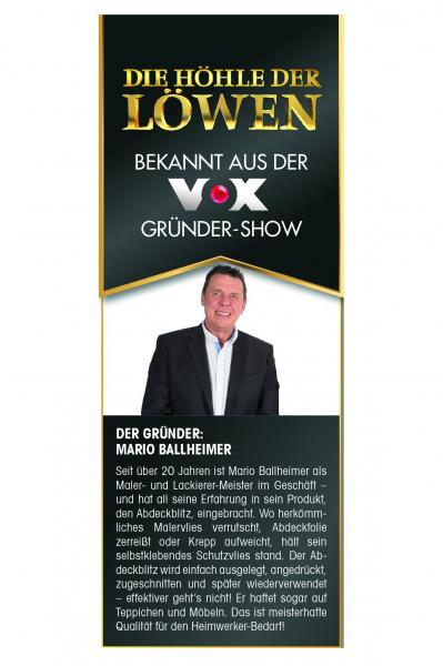 Abdeckblitz Schutz- & Abdeckvlies 0,03x50m selbstklebend