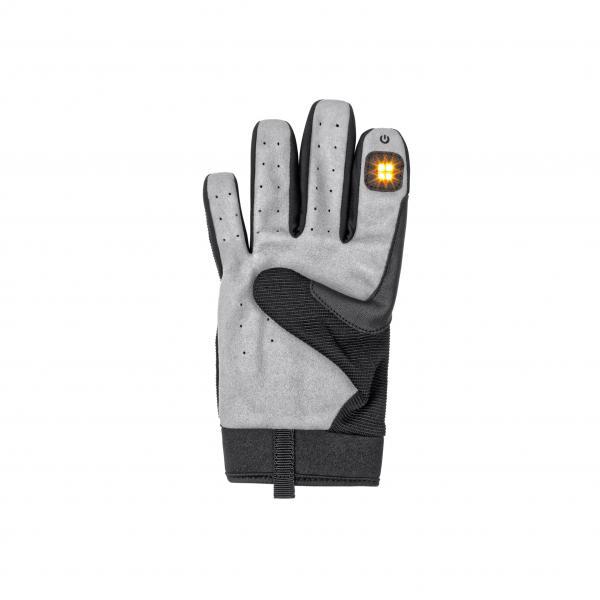 Blinkerhandschuh  Gr. XS/S schwarz/grau