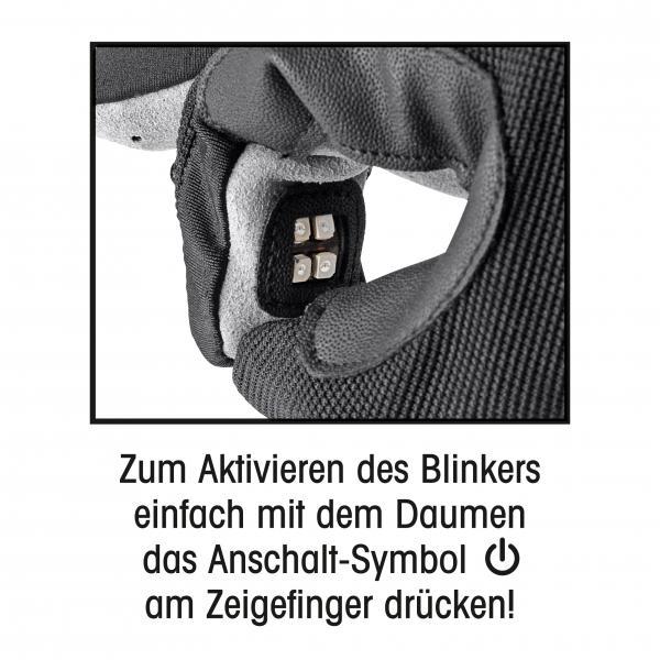 Blinkerhandschuh Gr. M/L schwarz/grau