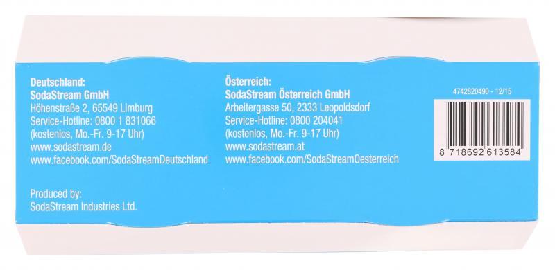Soda Stream Ersatzflaschen PET Duo-Pack 0,5 Liter grün/orange