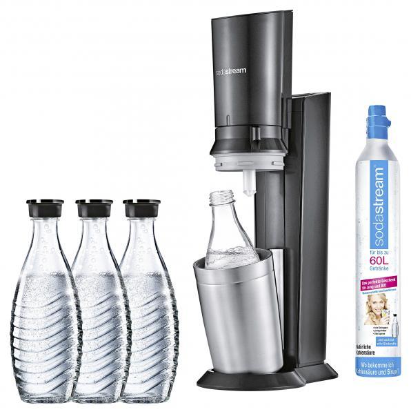 Soda Stream Crystal 2.0 mit 3 Karaffen