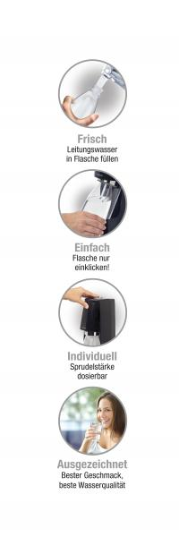 Soda Stream Easy Vorteilspack schwarz