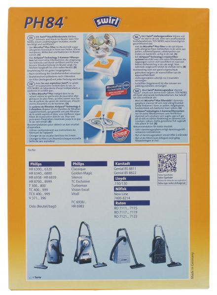 Swirl Staubfilterbeutel PH84 MicroPor