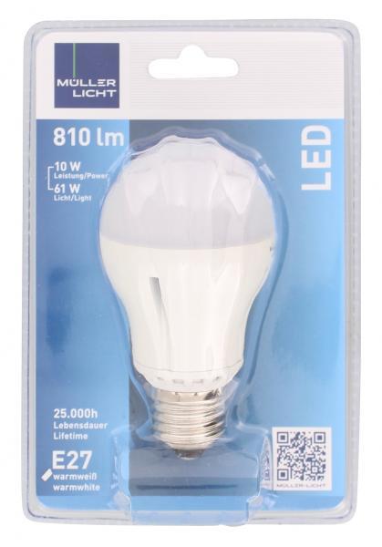Müller Licht Leuchtmittel LED 10W E27 warmweiß