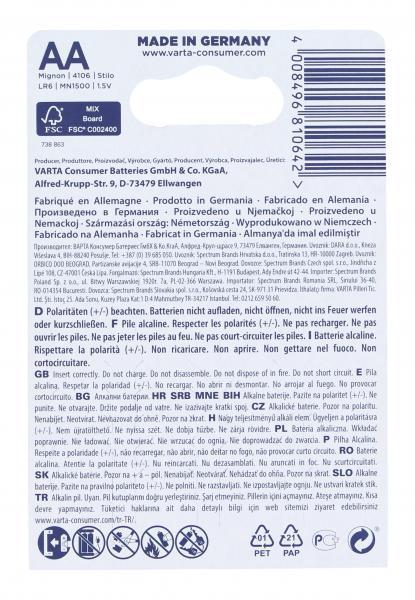 Varta Longlife Alkaline AA Mignon 1,5V