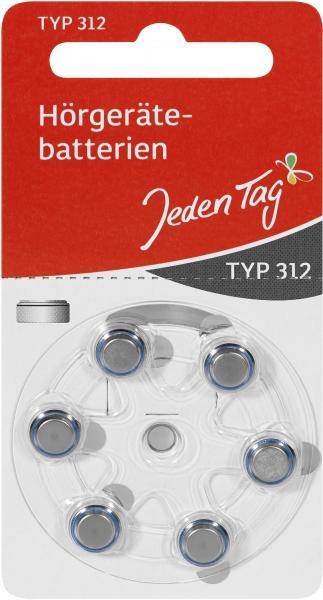Jeden Tag Hörgerätbatterien Typ 312