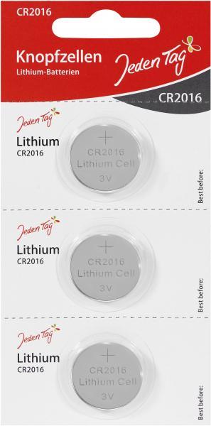 Jeden Tag Knopfzellen Lithium-Batterien CR2016
