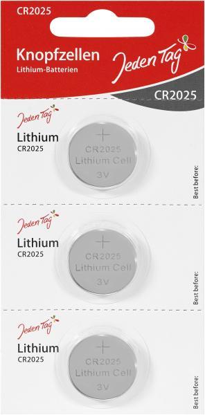 Jeden Tag Knopfzellen Lithium-Batterien CR2025