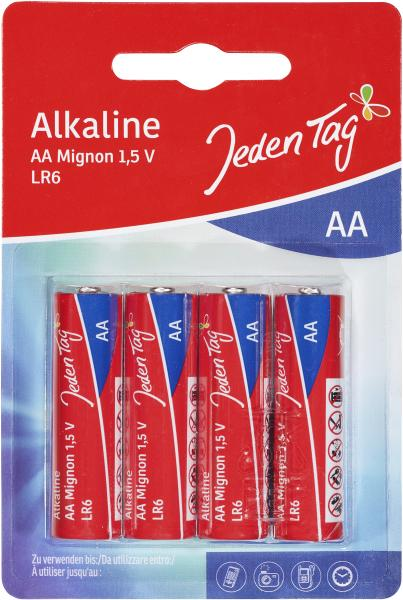 Jeden Tag Alkaline AA Mignon LR6
