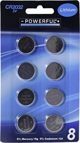 Powerful Knopfzellen CR2032 3V