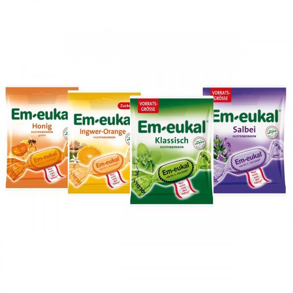 Set: Große Em-eukal Hustenbonbon Box