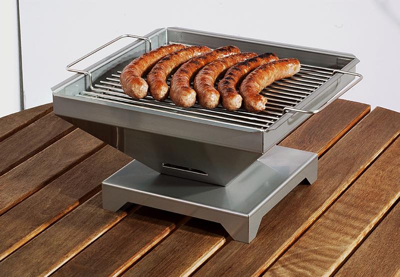 th ros holzkohle tischgrill edelstahl grill ebay. Black Bedroom Furniture Sets. Home Design Ideas