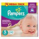 Pampers Premium Protection Active Fit Gr. 5 Junior 11-23kg <nobr>(74 St.)</nobr> - 4015400622543