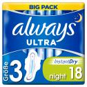 Always Ultra night Binden mit Flügeln <nobr>(18 St.)</nobr> - 4015400498124