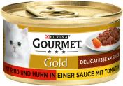 Gourmet Gold mit Rind & Huhn in Sauce mit Tomaten <nobr>(85 g)</nobr> - 7613032335816