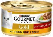Gourmet Gold mit Huhn & Leber <nobr>(85 g)</nobr> - 7613032881573