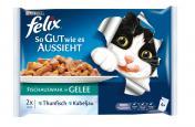 Felix So gut wie es aussieht mit Thunfisch & Kabeljau <nobr>(4 x 100 g)</nobr> - 3222270125154
