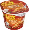 Maggi 5 Minuten Terrine Nudeln in Tomaten-Mozzarella Sauce, Becher <nobr>(55 g)</nobr> - 4