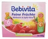 Bebivita Feine Früchte Himbeere in Apfel-Birne <nobr>(4 x 100 g)</nobr> - 4018852016748