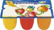 Danone Fruchtzwerge Banane, Erdbeere, Aprikose <nobr>(6 x 50 g)</nobr> - 4009700005205