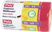 Pely Zugband-Müllbeutel extra stark 35 Liter Vorteilspack <nobr>(40 St.)</nobr> - 4007519085449