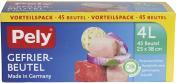 Pely Gefrierbeutel 4 Liter Vorteilspack <nobr>(45 St.)</nobr> - 4007519086743