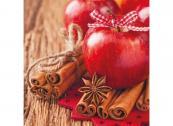 Duni Servietten Tissue 33x33cm Cinnamon Apples <nobr>(1 St.)</nobr> - 7321011749287