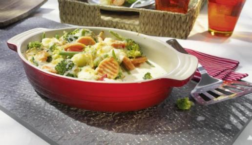 Einfaches Gemüse-Gratin