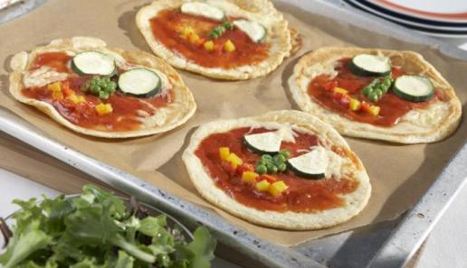 Pfannkuchen-Pizzagesicht